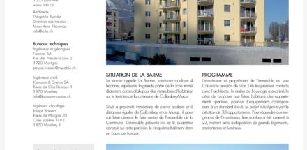 """Immeuble Minergie """"La Barme D"""""""