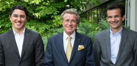Erik Langlo (administrateur), Julien Treleani (administrateur), Marc Lachenal (administrateur) et Jean-Jacques Mégevand (Directeur Génie-civil)