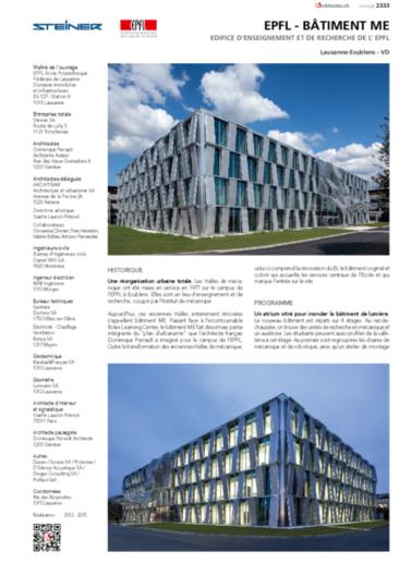 EPFL Bâtiment ME