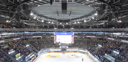 Une arène de 9'000 spectateurs, élément emblématique de Fribourg